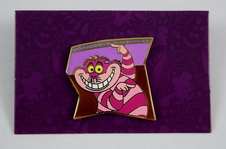Alice in Wonderland 65th Anniversary Puzzle Mystery Set - Disneyland Purchase - Cheshire Cat - On Backing Card - Front View