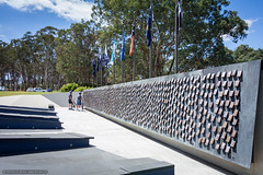 National Police Memorial honour roll Canberra (sbyrnedotcom) Tags: canberra christmas geometric sun structures buildings architecture memorial police dead deceased honourroll nationalpolicememorial touchstones cyclists act australia