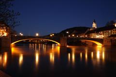 Laufenburg, Baden, zur blauen Stunde