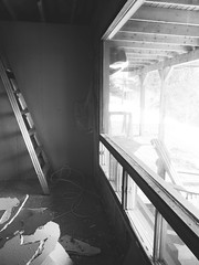 Home Renovation (LiamFromNB) Tags: light blackandwhite bw house canada architecture nikon shadows indoors coolpix