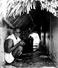 Blindman (Niranjan Ramesh) Tags: old portrait bw india men home blackwhite nikon blind madras oldman hut farmer chennai tamilnadu cwc blindman d5100 chengalpettu ponpathirkoodam cwc436 chengalpetu
