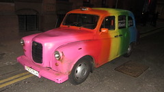 A Very Colourful Taxi Cab With Rainbow Colours Spotted In Glasgow Scotland - 3 Of 3 (Kelvin64) Tags: scotland rainbow colours with very glasgow cab taxi spotted colourful in a