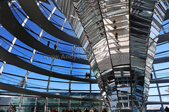 The Reichstag Dome, Reichstag Building, Berlin, Germany (andy evans photos) Tags: city blue red summer sky sunlight abstract tree berlin history window monument beautiful yellow vertical metal architecture modern germany design memorial europe symbol flag politics chrome dome editorial government curve cultures futuristic germanflag parliamentbuilding nationalflag urbanscene capitalcities cloudsky traveldestinations famousplace reichstagdome blackcolor germanculture buildingexterior nationallandmark constructionindustry internationallandmark buildingactivity thereichstag builtstructure glassmaterial parkmanmadespace