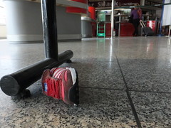 All alone (stevenbrandist) Tags: italy lost shoe airport italia child floor small genoa genova sneaker discarded seating adidas trainer aeroportocristoforocolombo