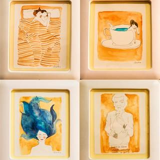 Ocher. Ocre... 6 x 24 cm. A la venta ilustraciones. Contacta en lapizehilo@gmail.com. #art # #paint #painting #drawing #drawi artist ngs #markers #paintings #watercolor #watercolour #acuarela #ink #creative #sketch #sketchaday #pencil #dawanda #ilustracio