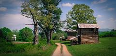 Museville, VA  Farm (Bob G. Bell) Tags: road tractor barn franklin virginia va lane fujifilm x30 logbarn tobaccobarns bobbell pittsylvania museville