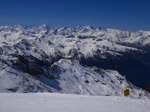 Vue depuis le sommet d'Orelle - Val Thorens