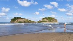 Sainte-Marie (romain_castellani) Tags: sea sky cloud mer beach nature landscape sand martinique sable panasonic ciel nuage paysage plage tourisme antilles c1 le carabes tombolo gf7 lumixgvario1232mmf3556