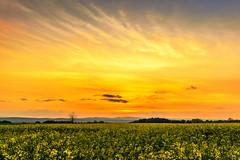 Sunset in the wind ! (Stphane Slo) Tags: sunset france reflection clouds landscape eau pentax hiver nuages paysage reflexion hdr coucherdesoleil sane pentaxk3ii