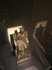 This figurine is a model of the famous bronze statue by ARNOLFO di CAMBIO that stands in the central nave of the present Basilica of St. Peter. (goldiesguy) Tags: vatican statue museum painting artwork statues manuscript ronaldreaganlibrary vaticansplendors goldiesguy