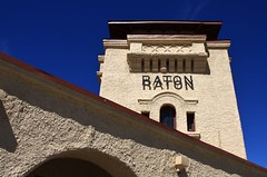 Santa Fe Railway Depot - Raton, NM (Lights in my hometown) Tags: newmexico station raton amtrak depot