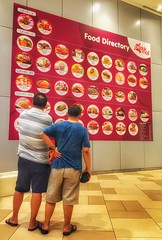A man's toughest decision in life...what to eat  (: ) :) Tags: life food eat variety signboard choose decisionmaking