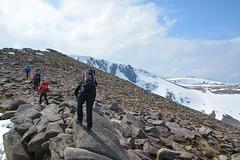 Broad start of Fiacaill Ridge (nic0704) Tags: mountain walking t landscape scotland highlands outdoor hiking hill peak an ridge climbing summit mountainside cairn gorm scramble cairngorm cairngorms foothill lochan coire sneachda fiacaill