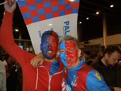 Palace supporters at Wembley (FA Cup 2016) (Paul-M-Wright) Tags: london cup face manchester paint crystal 21 stadium flag united may saturday palace flags final fans fa supporters versus wembley 2016 cpfc