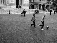 4-3-3 (DanieleS.) Tags: street city travel urban bw white black kids ball wow square photography mono town photo football amazing cool strada shoot play shot great monocromatic di fotografia bianco nero calcio daniele orvieto 2016 monocromatico salutari