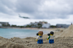 Enjoying Maho (Nicola Berry) Tags: ocean beach plane nikon do lego sigma to 5300 maho sxm legominifigure minifigure mahobeach 18250 stmaarteen sigma18250 d5300 nikond5300