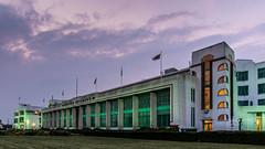 London   |   The Hoover Factory (JB_1984) Tags: uk england building london architecture twilight unitedkingdom dusk landmark artdeco hdr highdynamicrange perivale hooverbuilding londonboroughofealing thehoverfactory
