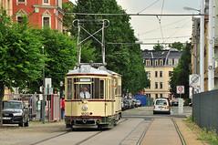 Kleiner Hecht #1820+1029 Straenbahnmuseum Dresden Drezno (3x105Na) Tags: germany deutschland dresden tram sachsen kleiner strassenbahn tramwaj hecht betriebshof btf niemcy trachenberge drezno saksonia strasenbahnmuseum betriebshoftrachenberge 18201029