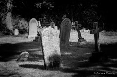 By the Light of the Silv'ry Moon (andrew.varney) Tags: blackandwhite monochrome grave graveyard outside blackwhite nikon tombstone gothic surrey churchyard tombs gothika farnham d5100