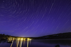 Devils Lake Star Trail (UH82NVMy Photography) Tags: park lake water wisconsin canon stars star timelapse rocks control state devils north trails trail polaris promote rokinon promotecontrol uh82nvmyphotography uh82nvme