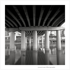 (jasoncremephotography) Tags: longexposure bridge blackandwhite 120 film water monochrome rollei analog rolleiflex mediumformat fuji hc110 fujifilm taipei fw acros dilutionh nd110 anlogue rolleiflexfw