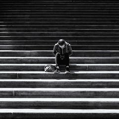 Vancouver Art Gallery (. Jianwei .) Tags: street girl vancouver stairs fuji phone cell x30 vancouverartgallery