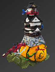Katatsumuri-j (cecilihf) Tags: lego moc snail escargot japanese castle sushi ninja dragon elemental samurai zen readysetescargot brickworld 2016 eurobricks