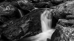 Dark Waters (Wimb0) Tags: summer bw nature water 35mm dark photography 50mm waterfall lowlight woods focus long exposure waterfront natural cloudy sony sunny a33 sonydslr
