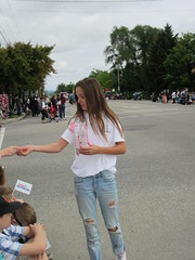 Here, have one (jamica1) Tags: canada girl bc okanagan may columbia days parade jeans faded torn british kelowna rutland