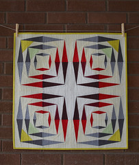 Paper Cut No. 1 - Mini Quilt (staceyomalley) Tags: quilt modernquilt rjrfabrics