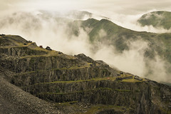 Dinorwic: Machu Picchu of Wales (PentlandPirate of the North) Tags: dinorwic gwynedd dinorwig slate quarry llanberis northwales mist cloud ruins machupicchu snowdonia