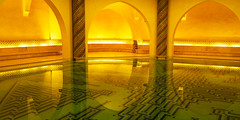 Hassan II Mosque, Casablanca (HerringCoveMike) Tags: mosque holy bathing water underground hassaniimosque casablanca morocco pool arches ceramics religion