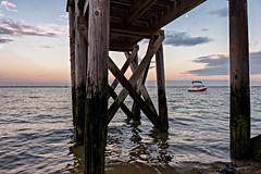 Provincetown Pier (Shutterscript) Tags: horizon capecod moss landscape artistic nature water moon shore dock ocean theredinn boat sunset provincetown pier sea ma usa