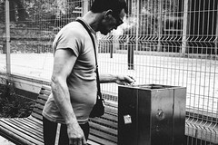 Street Photography # 146 (PolishPhotography/eu) Tags: street streetphotography bw blackwhite black city czowiek man documentary doc life lukasz juszczak gdynia gdask poland polska photography photographer polish portret morze smoke