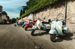 Vespas (Nick Sloter) Tags: road street blue summer italy holiday rome nikon wheels perspective streetphotography sigma bluesky motor vespas sigma1020mm twowheels scouters nikond5100