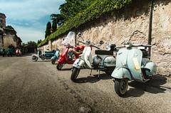 Vespas (Nick Sloter) Tags: road street blue summer italy holiday rome nikon wheels perspective streetphotography sigma bluesky motor vespas sigma1020mm twowheels scouters nikond5100