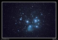 Les pleades M45 (Chronique d'un chasseur d'images) Tags: pleades m45 astre cosmos toiles stars ciel nuit night astro astrophoto astrophotographie astrophotography sky messier canon