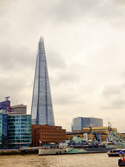 View from the Tower of London, The Shard (photphobia) Tags: london uk southwark southbank thames thamesbank river city cityhall shard theshard skyscraper skyline oldwivestale architecture buildings building buildingsarebeautiful water outdoor sky cloud cloudy clouds hmsbelfast