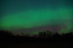 Canadian Aurora Borealis W/ Shooting Star! (Valley Dweller 68) Tags: sky canada color nature beautiful star sony aurora wish prairies borealis shootingstar a77ii