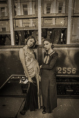 IMG_9309 - Copy2 (Nasekomaya) Tags: old girls girl sepia canon vintage cosplay russia moscow wwi tram retro worldwari ww1 greatwar tramway reenactment oldfashioned historicalreenactment 50d canoneos50d moscowtramparade2015