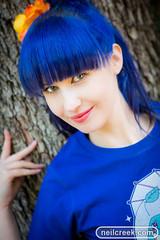 Blue Leia (neilcreek) Tags: blue portrait cute girl beautiful hair model eyes pretty share