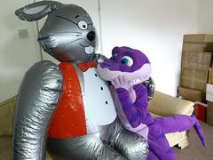 20150402 bunnies 09 (SM the Shark) Tags: rabbit bunny easter shark inflatable fursuit