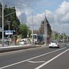 A one-car train approaches 17th & Holgate (Tysasi) Tags: trolley interurban trimet sd600 testtrain pmlr portlandmilwaukielightrail holgate17th