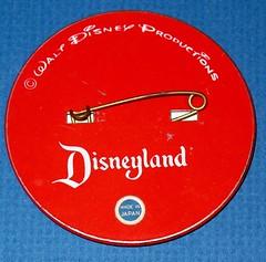 Vintage Disneyland Goofy Flicker button - back