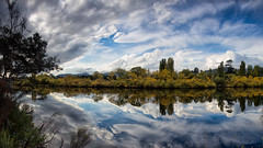 Autumn (RoosterMan64) Tags: autumn panorama colour reflection yellow canon reflections panoramic tasmania 6d