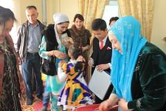 Family gathering at Nowruz, Bukhara, Uzbekistan