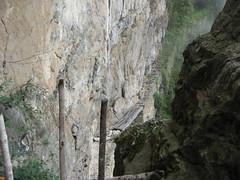 Inca bridge (mihai.petrisor) Tags: panorama inca ruins ruine machupicchu incatrail puertadelsol urubambavalley incabridge templu caleferata poartasoarelui mperiulincas