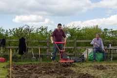 116/365 Men at work (princesspink 77) Tags: menatwork allotment day116 rotavator day116365 365the2015edition 3652015 26apr15