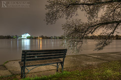 Jefferson with Bench at Night