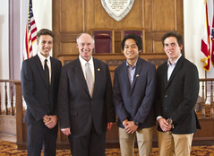 05-12-2015 Governor Bentley greets Exchange Students